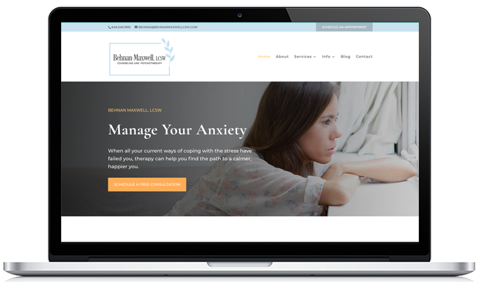 therapy website Behnan Maxwell