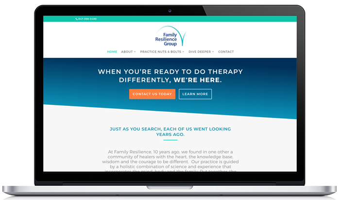 Family Therapy Practice Website