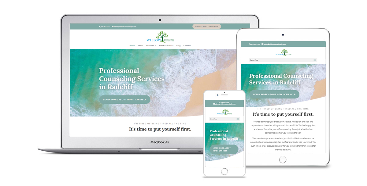 Therapy Website Responsive Design Devices