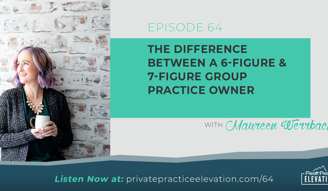 64. The Difference Between a 6-Figure & 7-Figure Group Practice Owner with Maureen Werrbach from The Group Practice Exchange